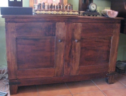 rustic-buffet-with-wrought-iron