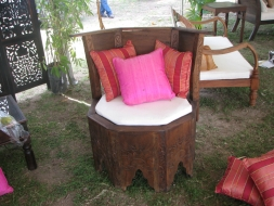 Octagonal carved chair