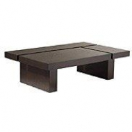 Platform block coffee table with lines
