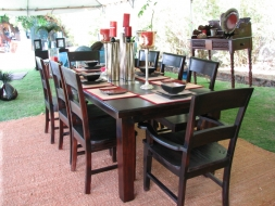 Traditional panel back dining chairs