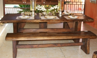 treasure-beach-log-table-with-bench-and-stools