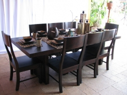 Platform Dining Table and chairs