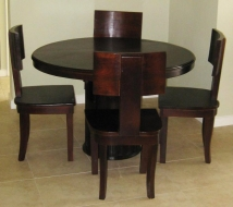 Round Four seater table with curve back chairs