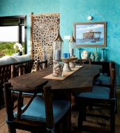 Guango with Stitch Dining Table and Log dining Chairs