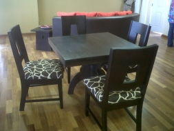 Sabina Square Cartd Table with Sabina chairs