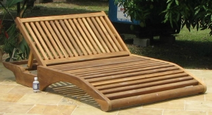 double-teak-lounger